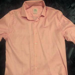 Pink Zara Long sleeve button down